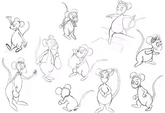 Work in progress projet d album sur une petite souris - Dessin de petite souris ...