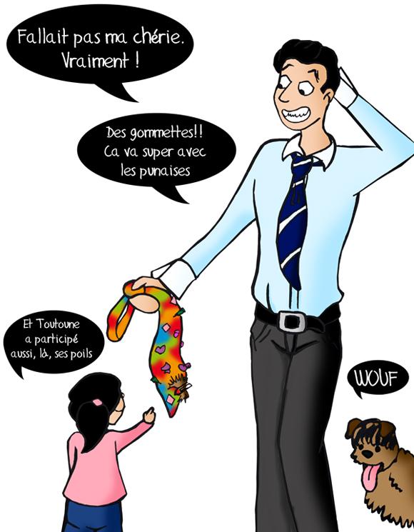 Fête des pères, cravate pour papa