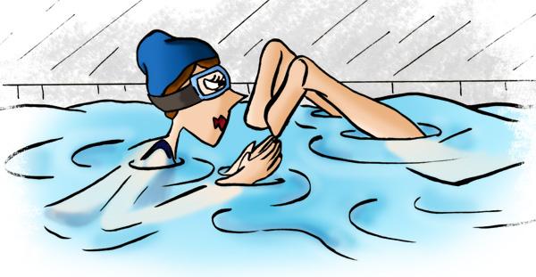 Nager à la piscine