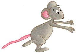 La petite souris trottine et court