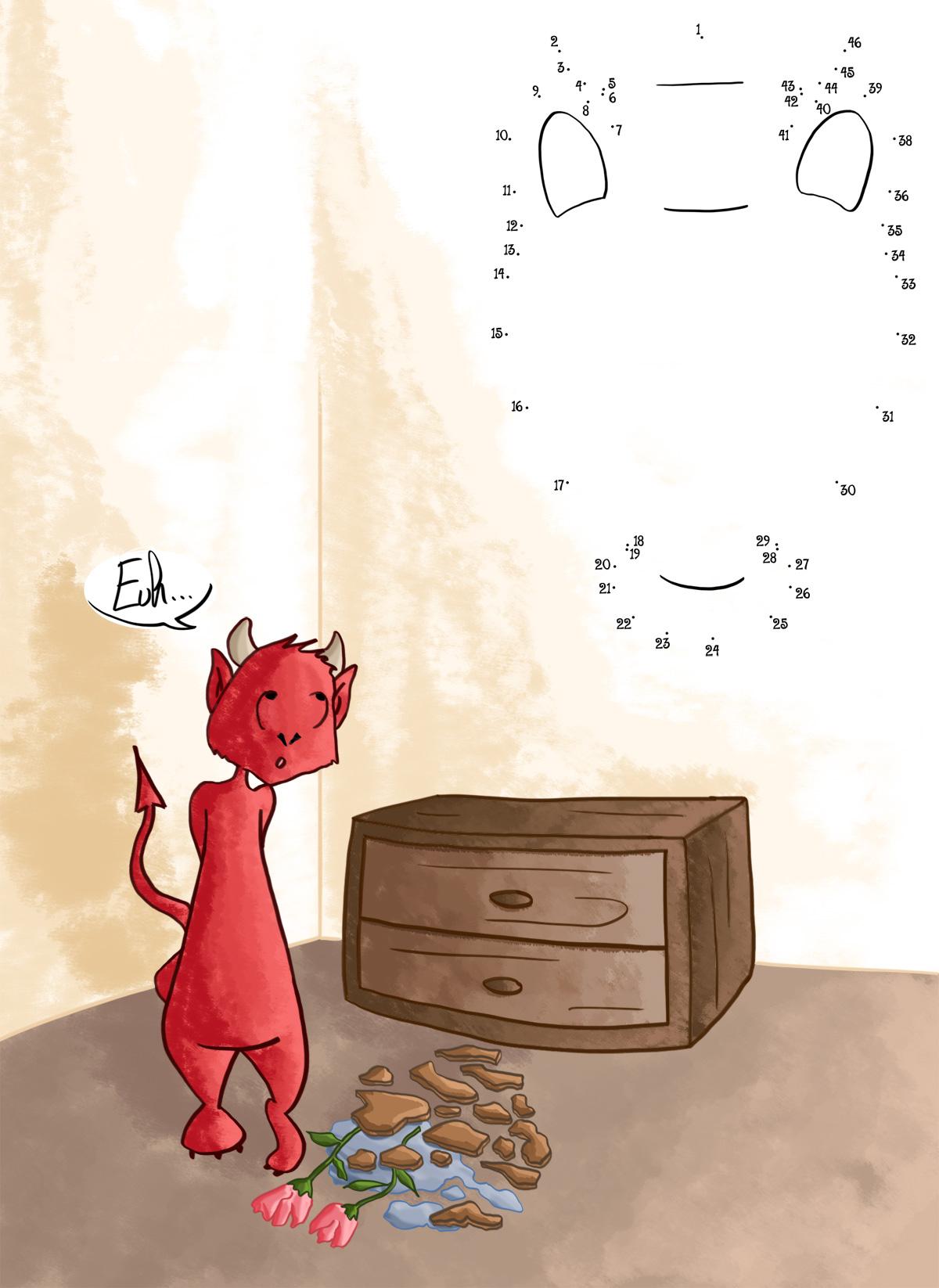 Jeux pour enfant relier les points et recherches de - Les petit diable noel ...