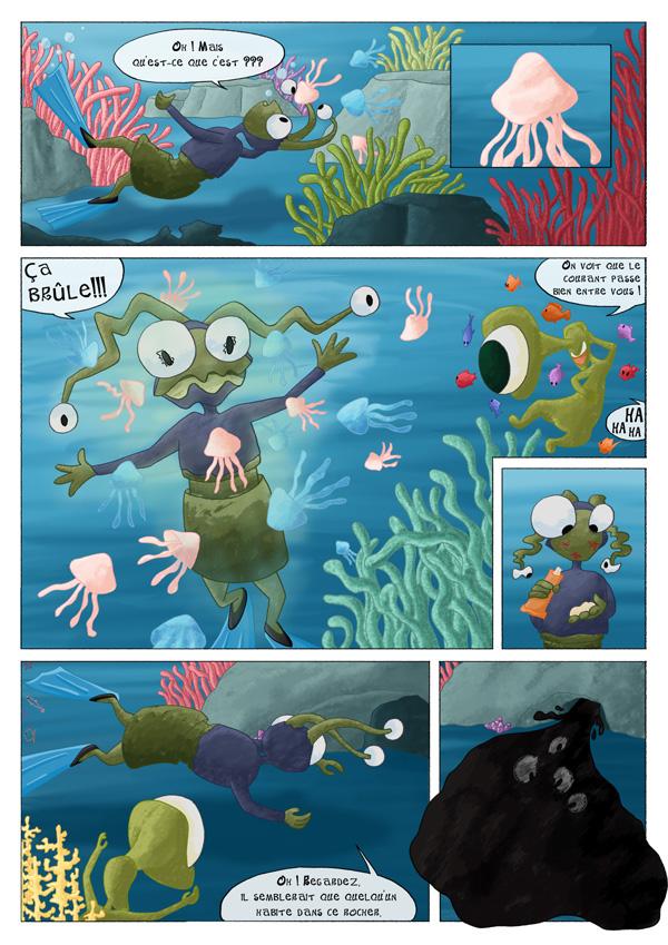 Bd attaque de méduses