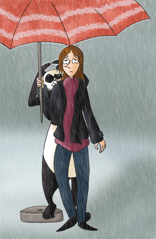 Un parasol pour se protéger de la pluie