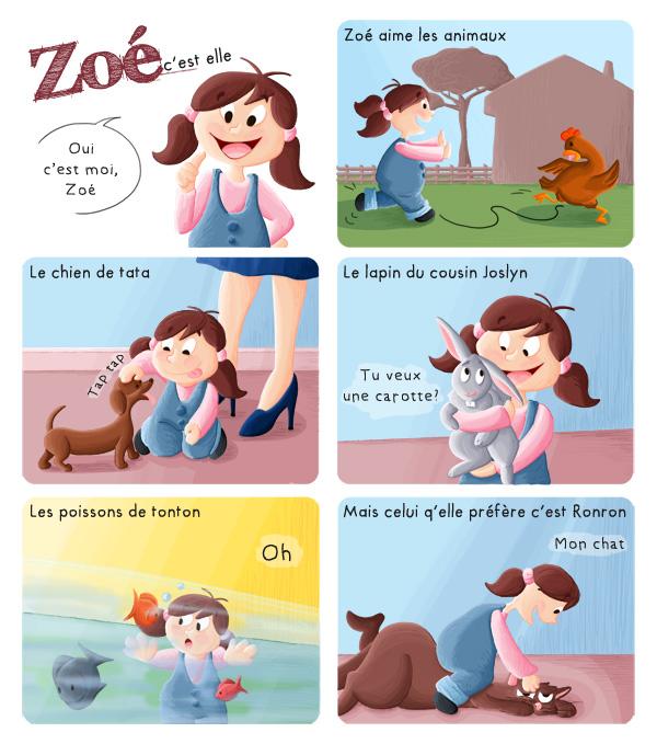 BD jeunesse Zoé et les animaux