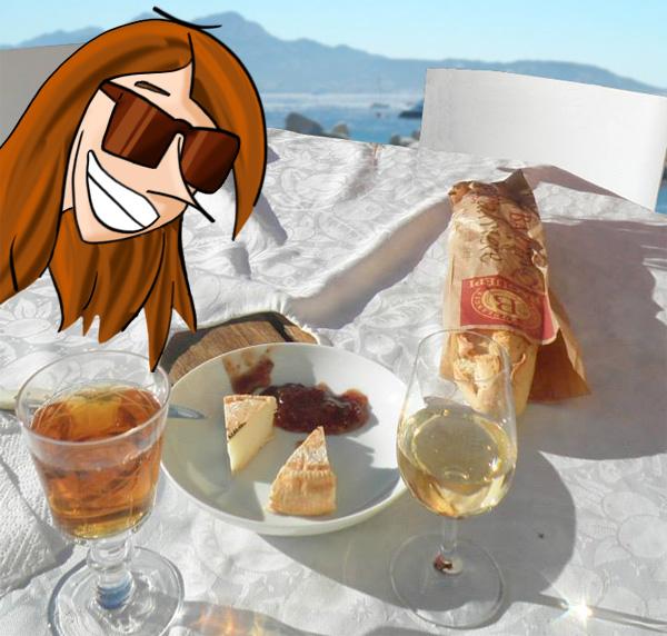 Apéro en Corse au soleil