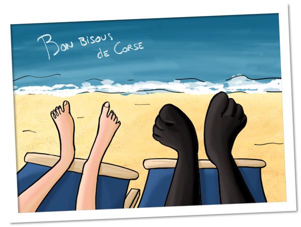 Photo de vacances et de pieds à la plage