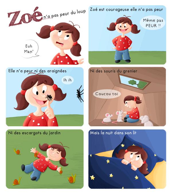 Zoé n'a pas peur des souris, des araignées