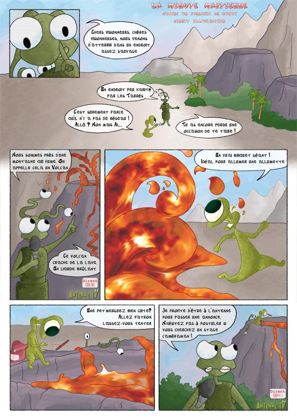 Nos amis martien découvre un volcan, chaud devant