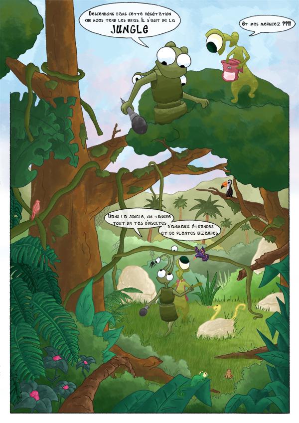 BD des martiens découvrent la jungle