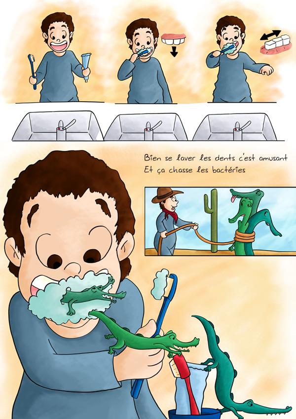 Apprendre à se laver les dents en s'amusant