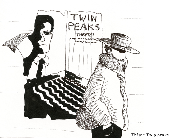 Participation Dinett illustration inktober 15 octobre thème Twin peaks
