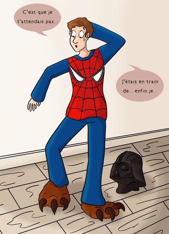 Aller à l'improviste chez un geek, pyjama partie