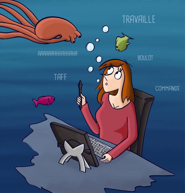 Trop de travail complétement sous l'eau