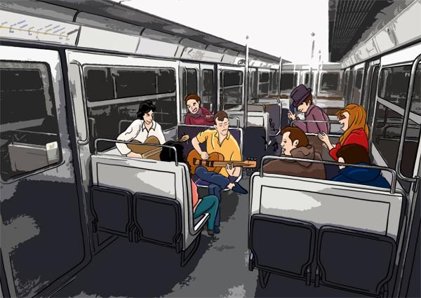 Musicien dans le métro de Paris, ratp
