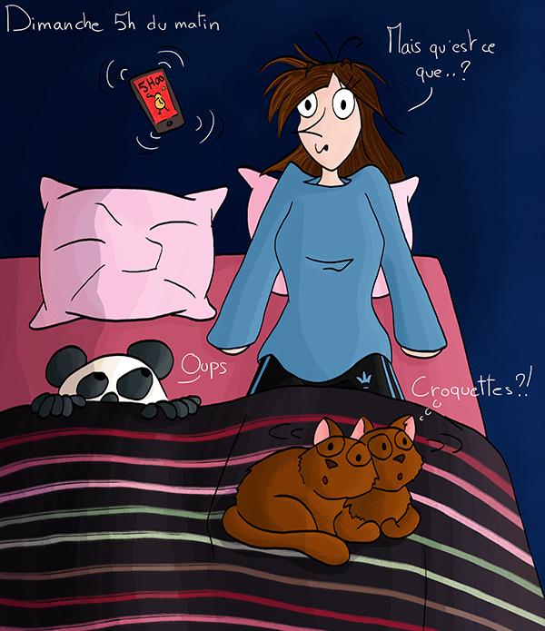 Oublier d'éteindre le réveil le dimanche