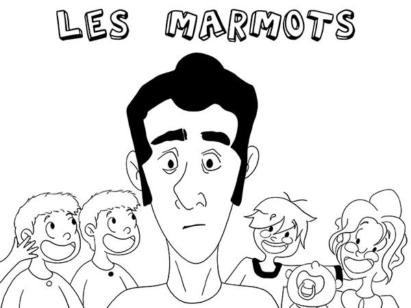 Les marmots 23 heures de la BD Dinett illustration