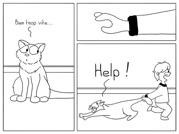 Enfants qui jouent avec le chat