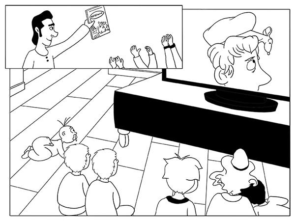 Mettre les enfants devant la télé, devant des dessin animé
