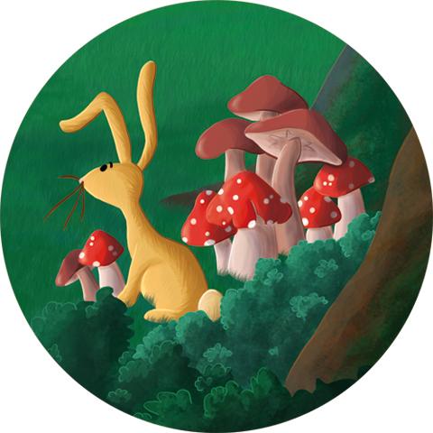 Extrait illustration numérique petit lapin