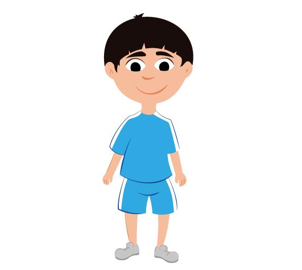 Illustration vectorielle garçon joue au foot