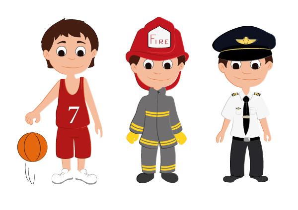 Basketteur, pompier et pilote d'avion