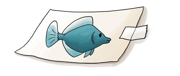 Dessin de poisson pour le 1 er avril