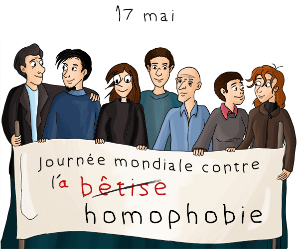 demain 17 mai 2014 journ e mondiale contre l homophobie blog dinett. Black Bedroom Furniture Sets. Home Design Ideas