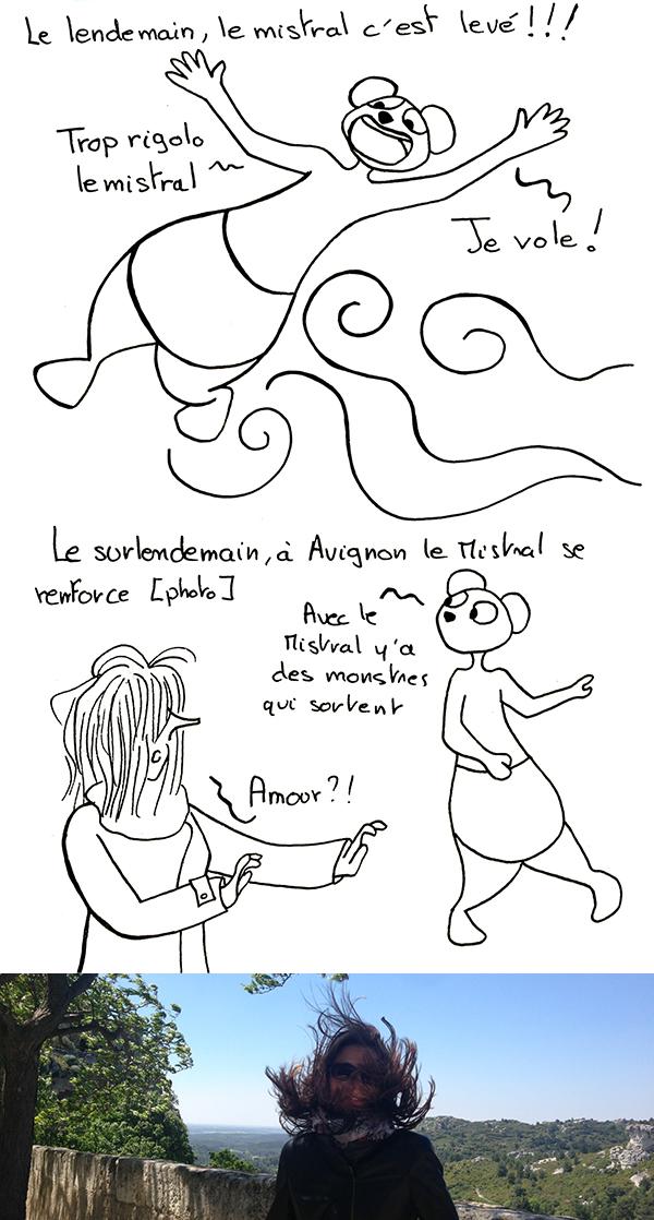 Le mistral à Marseille et Avignon