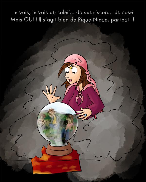 Madame irma, lire une boule de cristalle, donner la bonne aventure
