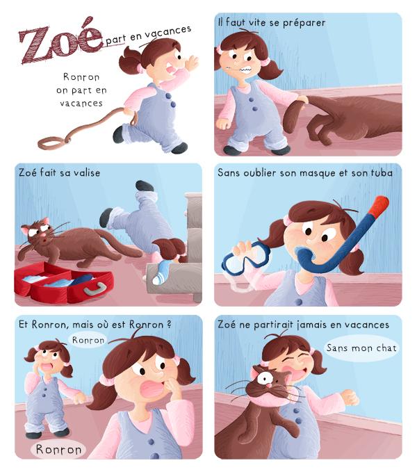BD les aventures de Zoé, Zoé part en vacances