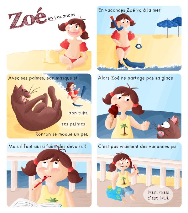 BD jeunesse Zoé en vacance à la mer