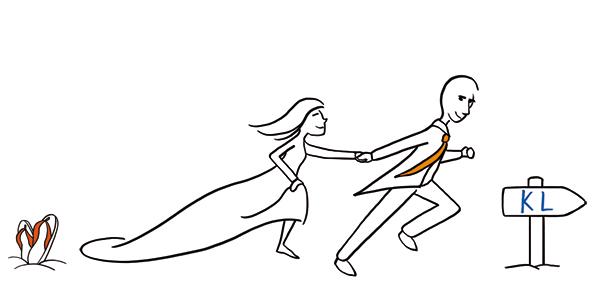 Détail d'un faire part de mariage illustré sur commande