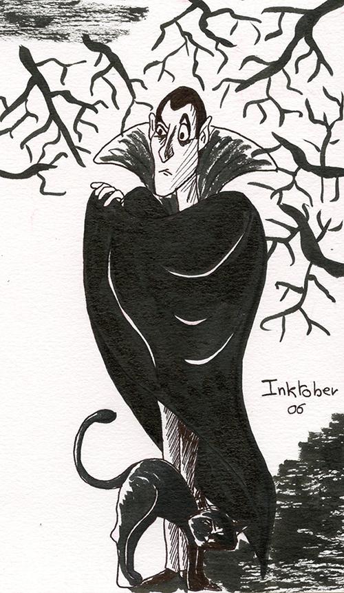 inktober 6 octobre vampire