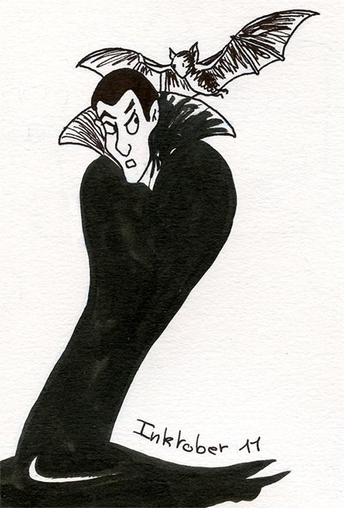 inktober 11 octobre vampire