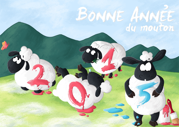 Bonne anée 2015 : année des moutons