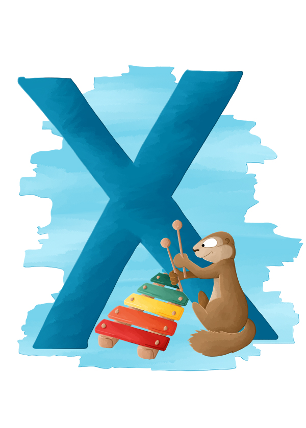 Abécédaire animalier X comme xerus et xylophone