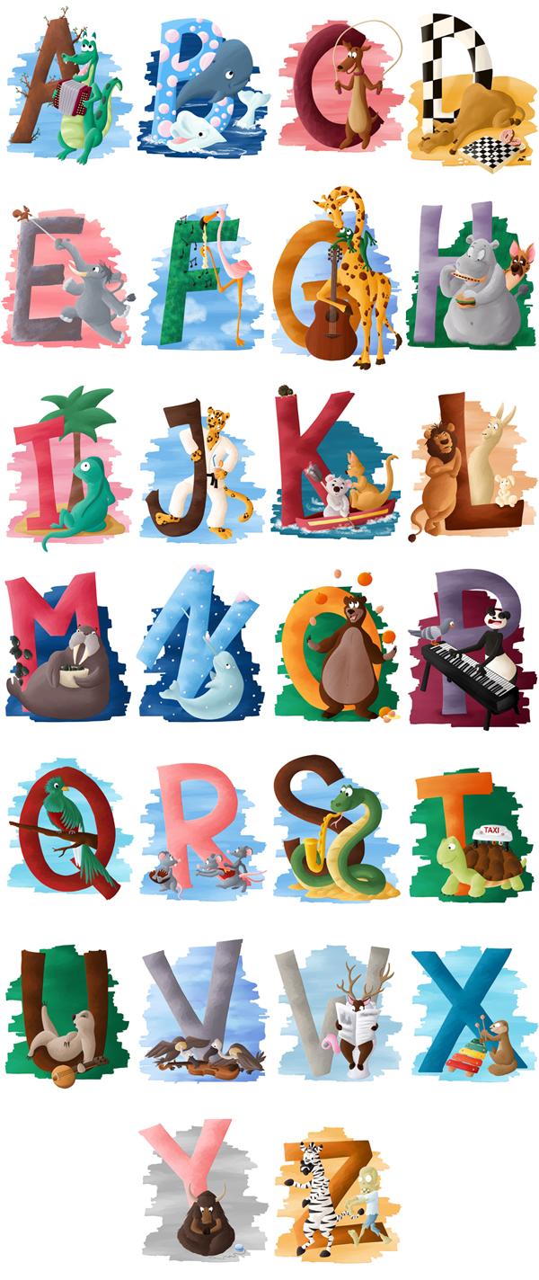 Abécédaire animalier apprendre l'alphabet