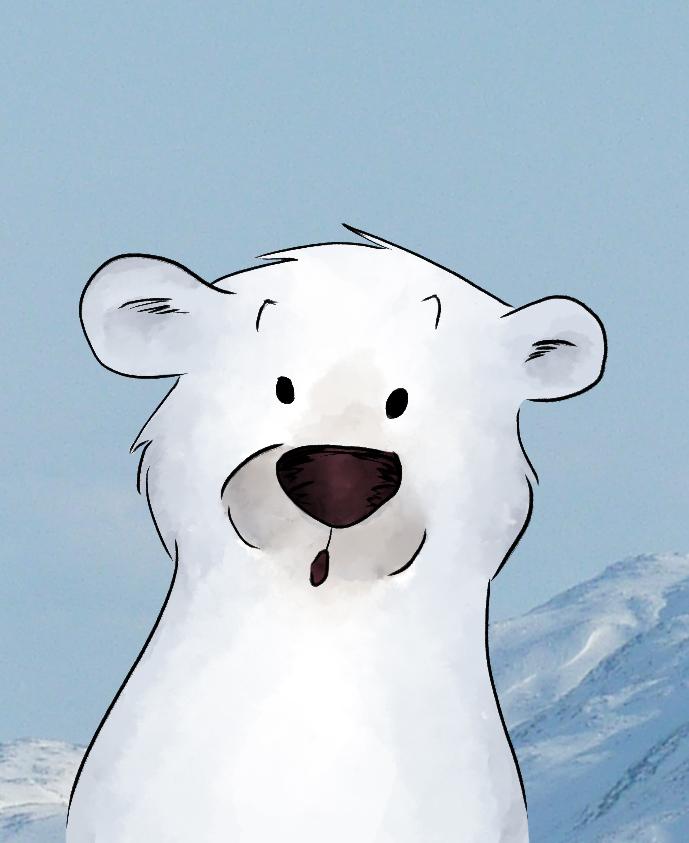Illustration animale l ours polaire blog dinett - Dessin d un ours ...
