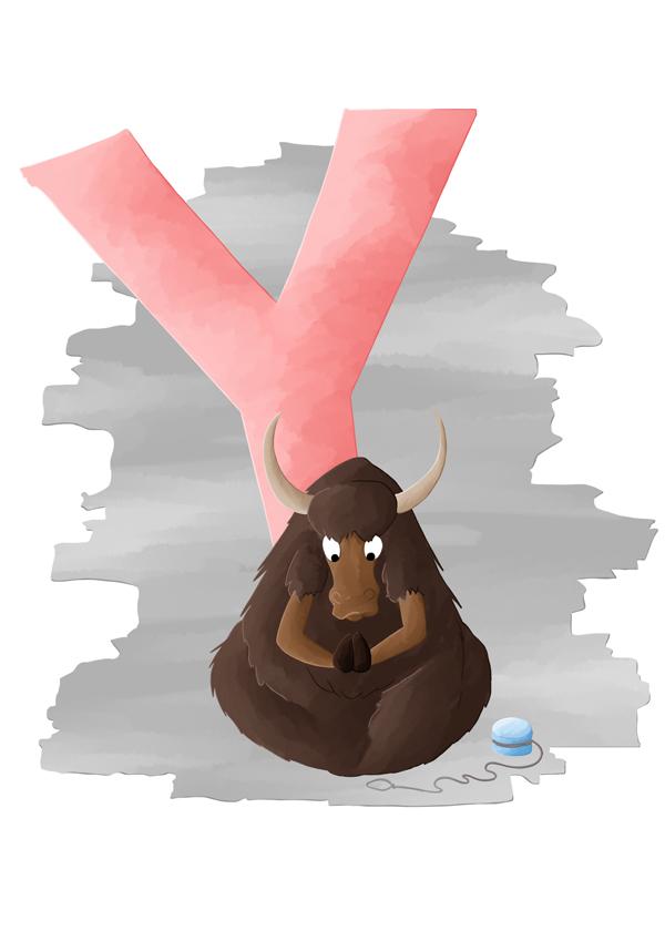 Abécédaire animalier y comme yack qui fait du yoyo