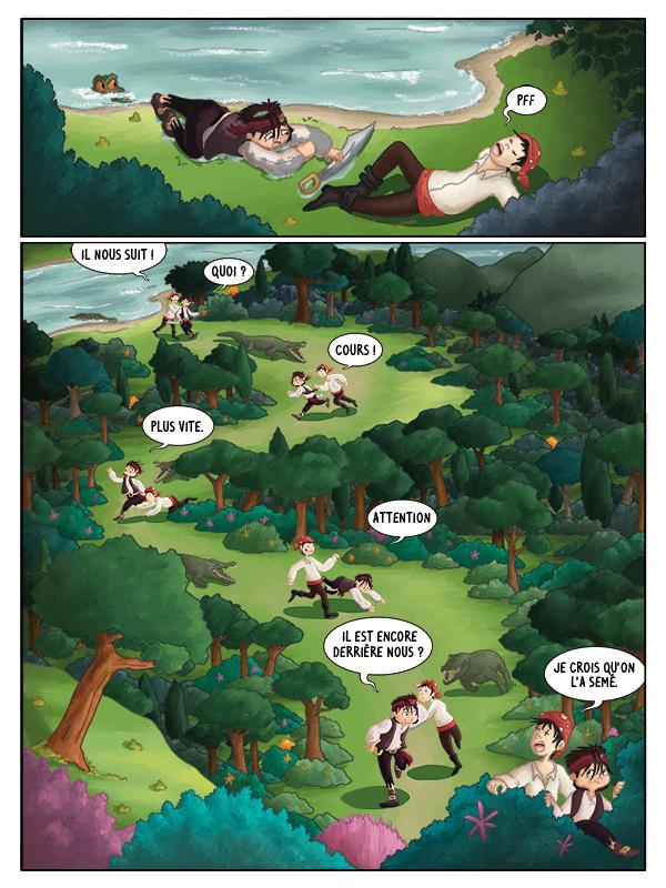 BD jeunesse Hugo et les pirates dans la jungle