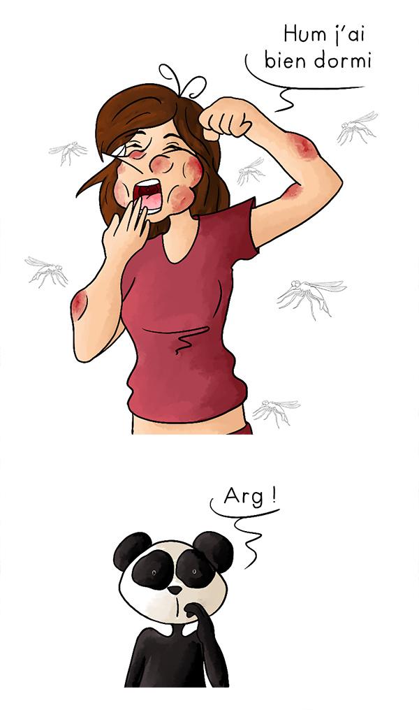 Déformé par une attaque de moustiques