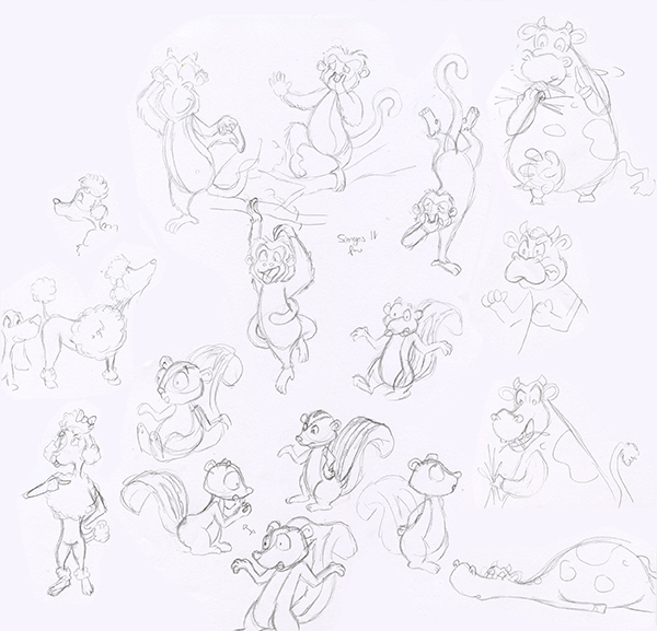 Recherches animaux character design animaux