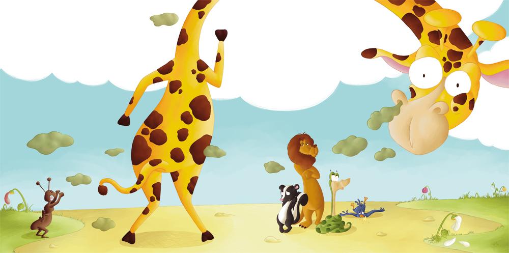 Couverture album jeunesse girafe