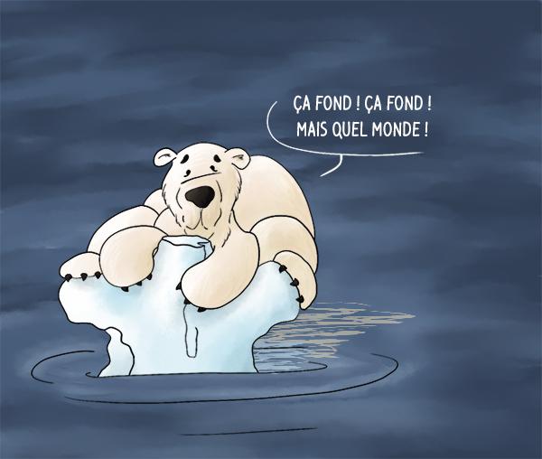 COP21 réchauffement climatique ours blanc