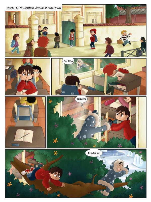 BD jeunesse les jeux d'Hugo à l'école