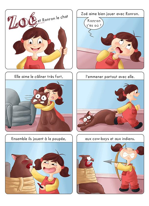 Bd jeunesse Zoé et Ronron le chat
