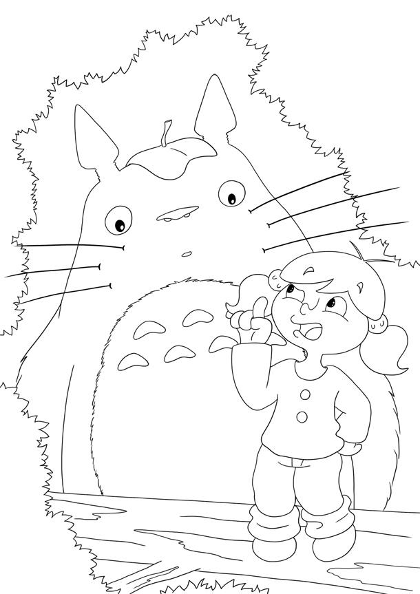 Coloriage Totoro et Zoé