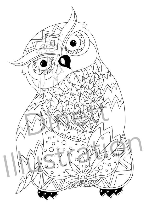 Coloriage imprimer d 39 animaux la chouette blog dinett - Dessin d animeaux ...