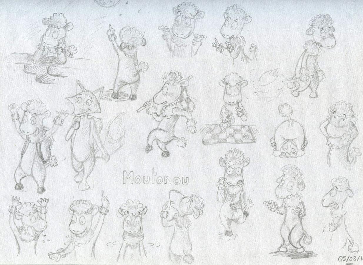 Recherches de personnage Moutonou le mouton