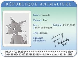 Carte d'identité Lisa le renard